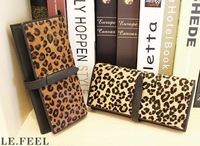 EMS free shipping Clubzed 2013 new arrival horsehair leopard print wallet fashion genuine leather long wallet women's wallet