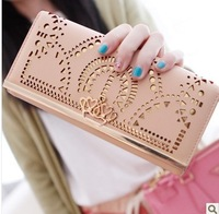 EMS free shipping Pear doll wallet female fashion cutout design women's long wallet women's wallet