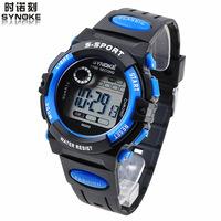wholesale children's electronic watches student movement waterproof luminous alarm clock stopwatch boys and girls 20pcs/lots