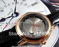 The new 2014 selling luxury business fashion retro classic automatic belt sapphire Swiss brand watch of wrist of men and women