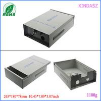CCTV RF controller aluminum housing instrumentation aluminum housing aluminum PCB circuit board 265*180*78 mm(248*175*73mm)