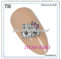 (20pcs/lot) Free Shipping KM63 2014 hot design MOQ 1pcs/design alloy nail art decorations more than 500designs