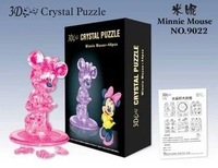 Hot Selling 3sets/lot Free Shipping 3D Three-Dimensional Crystal Puzzle Minnie Toys & Gift For Children 8*5*13CM