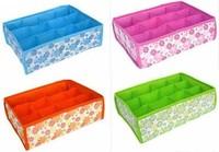 Bling Recommend Free Shipping Hot Sale5pcs/lot Folding 12 Grid Storage Box For Bra,Underwear,Socks 31*23*11CM