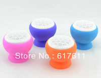 Free Shipping New bluetooth speaker Waterproof Magic Mushroom Green Silicone Sucker Stand Style