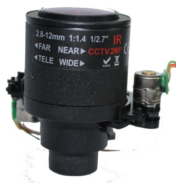 auto iris zoom lens,2MP IP Camera Lens, 2.7inch, IP Camera Lens, Using Software PTZ To Control Zoom, Pelco_D(China (Mainland))