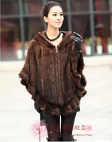 Mink fur coat mink hair outerwear