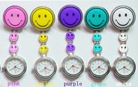 PW004  Women Casual Dress Stainless Stell Quartz Nurse Pocket Watch Multi Color Smiling Face Children Fob Watch, Montre-bracelet