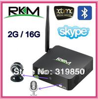 Rikomagic MK902 Andriod TV Box Quad Core RK3188 2GB RAM 16GB ROM MINI PC Built-in 5.0MP Camera Microphone Bluetooth RJ45 AV HDMI