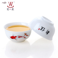 Free shipping  handpainted tea cup Jingdezhen Icy-jade ceramic cup for making tea (4pcs/lot)