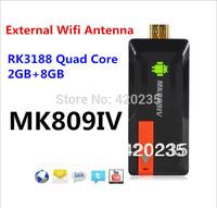 MK809III Update MK809IV Bluetooth Android 4.2.2 TV Box Smart tv stick RK3188 Cortex-A9 Quad Core 2GB RAM 8GB ROM 5PCS DHL