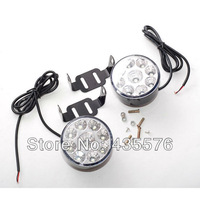 2 X Bright  White 9W LED Fog Light Head Lamp Car DRL Driving Daytime Running Day