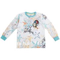 2014 New Fashion Star Printed Children Boy Kid Boy T-shirt Basic T-shirt for boy Sweatershirt for Kids Boy Baby Clohing 1-6Y