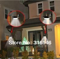 DHL fedex free shipping New Solar Powered 16 LED Outdoor Lighting Lamp/ Wall Light Ray/Sound Sensor Energy-saving Garden LEDs