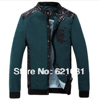 Big Size:M-3XL! Fast Shipping! 2014 New Arrival! Fashion Casual Slim Men's Jackets, High Quality Spring Mens Coats Free Shipping