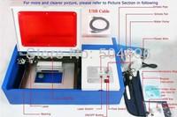 40W  CO2 Laser engraver/ laser engraving machine laser cutting machine 200*300mm USB port 3020
