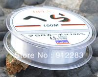 Free Shipping  5pcs Spool 100M Meter Transparent Nylon Fish Lure Fishing Line 22.7lb 10.3kg #HW319