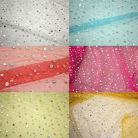 Gauze dubious paillette sequin net curtain fabric stage clothes performance wear paillette net fabric cloth fabric