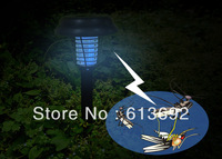 DHL fedex free shipping Outdoor solar mosquito killer lamp Solar LED Lamp Mosquito Killer Zapper Garden Outdoor solar light