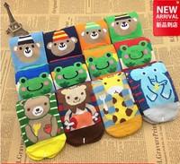 children Socks with animal cartoon Outdoor Shoes Baby boy girl Anti-slip Walking Children Sock kid's gift for 3-6 years