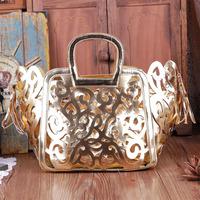 Vintage cutout 2014 winter handbag tassel casual big bag women's tote bag