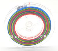 Free Shipping  5pcs Spool 100M Rainbow Color Braid PE Fish Lure Fishing Line 100lb 40.2kg #HW318