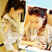 Free shipping 2014 New Fashion Raccoon Fur Autumn Winter Fur Scarf /Scarf For Women/Shawls Scarves
