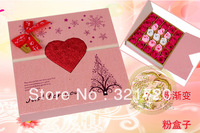 2014 Fashion rose soap flower (25 soap flower in box) 3 colour mixing Wedding Valentine's day Mother's day gifts Good packaging
