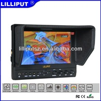 "Lilliput 663/S2 7"" IPS 3G SDI Monitor With Vectorscope, Waveform, Audio level meter, Peaking Filter, False Colors, Histogram"