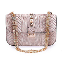 2013 women's handbag shoulder bag 077 casual fashion bag chain bag serpentine pattern bag