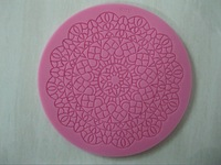 Free shipping 1pcs Chocolate Candy Jello 3D silicone fondant lace Mold Mould cake decoration/pastry tools, Y006
