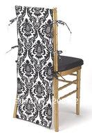 free shipping taffeta flocking chair hat for chiviari chairs