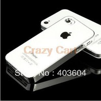 Fashion Metal Aluminum Mirror Style Back Cover Case For iPhone4 4S
