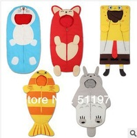 Free shipping 2014 hot sale five colors fleece newborn sleeping bag 5pcs/lot sleepsacks for stroller swaddling bag baby sleeping