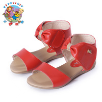Summer 2014, with flat sandals girls sandals children's shoes, leather bow