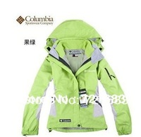 Free Shipping 2013 Colombia women Jackets outdoor sports ski suit warm waterproof two-piece set hoody lady tops ski wear coat