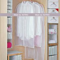 Free shipping  white transparent suit dust cover overcoat dustproof bag PEVA storage bag 4 pcs/lot