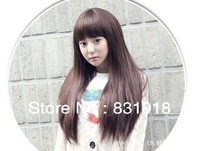 Korean fashion style wig with long straight hair wig repair face fluffy Qi Liu fake wigs wholesale