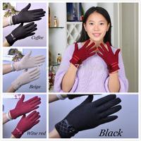 2014 New Arrival winter Hot Sale gloves women woolen gloves cashmere gloves female Lamb fringe mitten