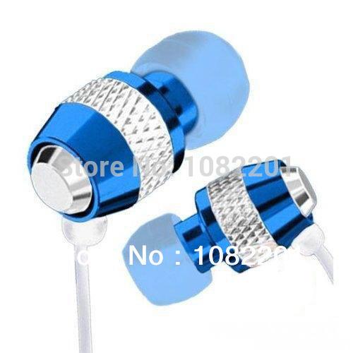 BLUE 3.5mm Stereo In-ear Earphones Earbuds Handsfree Headset MiC For HTC iPad Samsung Sony mtk6592 lenovo