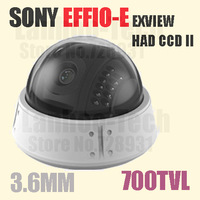 Indoor Dome Camera with 1/3 Sony CCD, 700TVL High Resolution, 3.6mm Lens