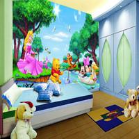 baby Mural eco-friendly waterproof child cartoon pvc personalized wallpaper  wall art