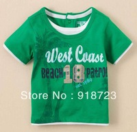 2014 new spring and summer children boys t-shirt green tree fashion 12M-5T brand high quality 1 pcs sport suit clothes for boys