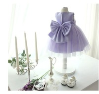 2014 newest baby girls light purple party tutu  flower dress kids lace tutu dress clothing free shipping