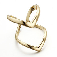 Min.order $10 (mix) New Fashion Ring Letter Shape Gold Silver finger rings jewelry Free Shipping Wholesale
