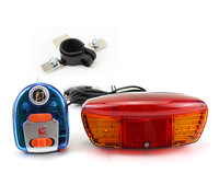 Bike Bicycle Tail Turn Brake Signal 11 LED Turning Night Light Lamp +Horn Bell