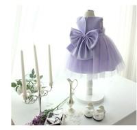 2014 newest baby girls light purple party tutu  flower dress kids lace tutu dress clothing free shipping