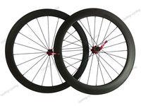 FREE SHIPPING 50mm front 60mm rear tubular bicycle wheels 700c Carbon fiber Racing road bike wheelset