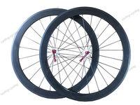 FREE SHIPPING 60mm tubular bicycle wheels Carbon fiber road bike Racing 700c wheelset with Novatec 271/372 hub