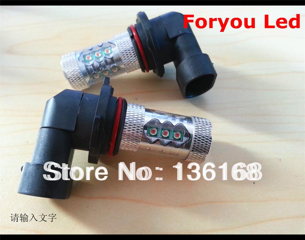Free Shipping 2 Pieces CREE 9006/HB4 LED BULB 80W ORANGE AMBER HEAD LIGHT LOW BEAM LAMP(China (Mainland))